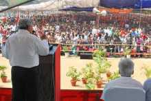 Sitaram Yechury Addressing the Rally