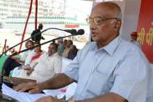 Ramachandran Pillai Addressing the March 19 Rally