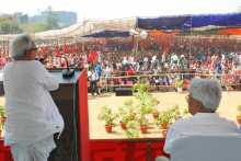 Biman Basu Addressing the Rally