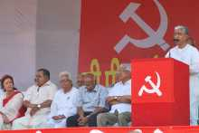 Manik Sarkar Addressing the Rally