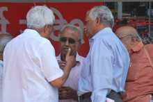 Left Leaders with Prakash Karat