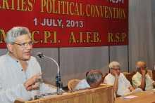 Sitaram Yechury addressing the Left Convention on July 1, 2013