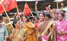 Victory in 2014 Panchayat Elections in Tripura 2014