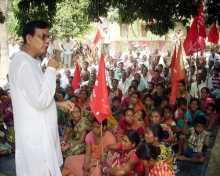 Com Md. Salim addressing public meetings in his constituency Raiganj