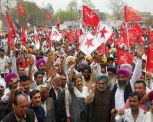 Com Brinda Karat in Ludhiana on Martyrs' Day