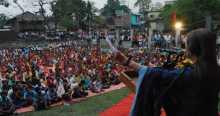 Com. Brinda addressing public meeting in Naxalbari, West Bengal