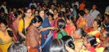 Com. Brinda meeting women during campaign in Naxalbari, West Bengal