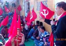 Com. Jagat Ram campaigning in Koti and Kasumpti areas of Himachal.