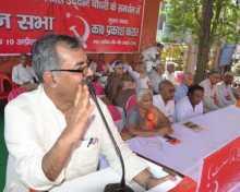Nilotpal Basu addressing the rally at Moradabad