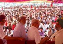 Com. Prakash Karat addressing a meeting in Ludhiana.