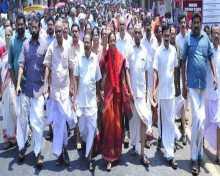 Com P.K.Sainaba campaigning in Malappuram constituency