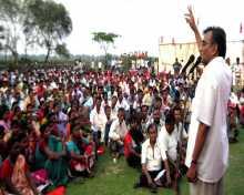 Com Surjyokanta Mishra addressing workers meeting at Dhaniakhali, Hoogly