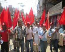 Rally in favour of Com. Hiralal Yadav in Varanasi.