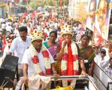 Last day of Com. Vasuki's campaign in North Chennai.